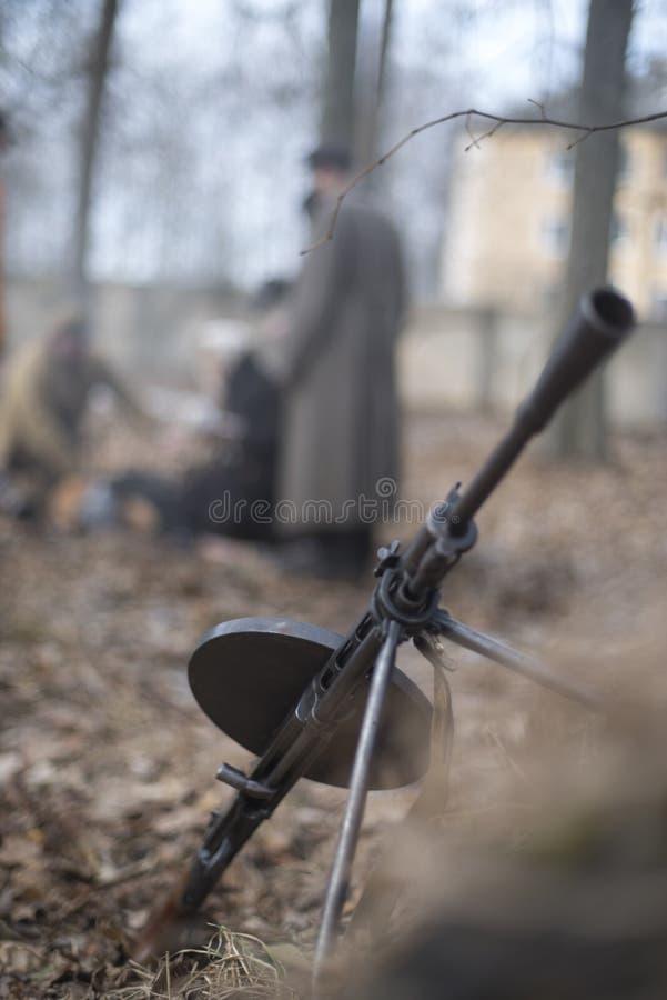 machinegeweer tweede wereldoorlog royalty-vrije stock afbeelding
