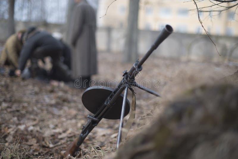 machinegeweer tweede wereldoorlog stock afbeeldingen