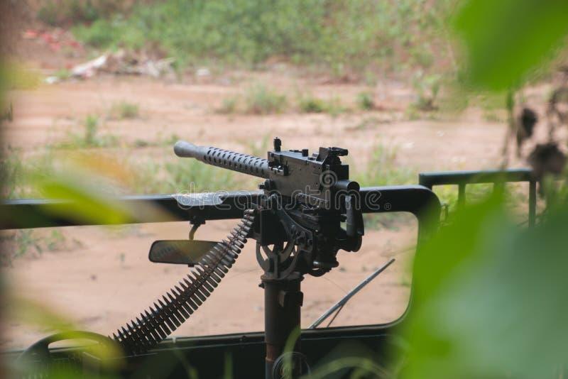 Machinegeweerwaaier bij de Cu-Chitunnels royalty-vrije stock afbeelding