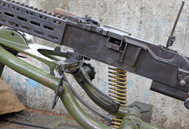 Machinegun from world war II royalty free stock image