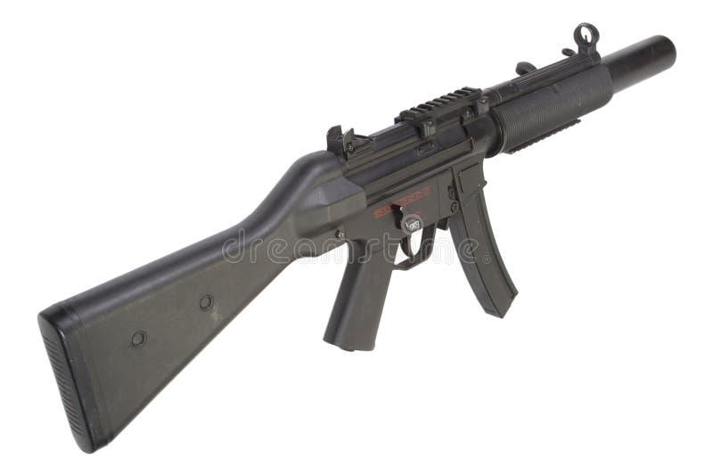 Machinepistool MP5 met knalpot royalty-vrije stock afbeelding