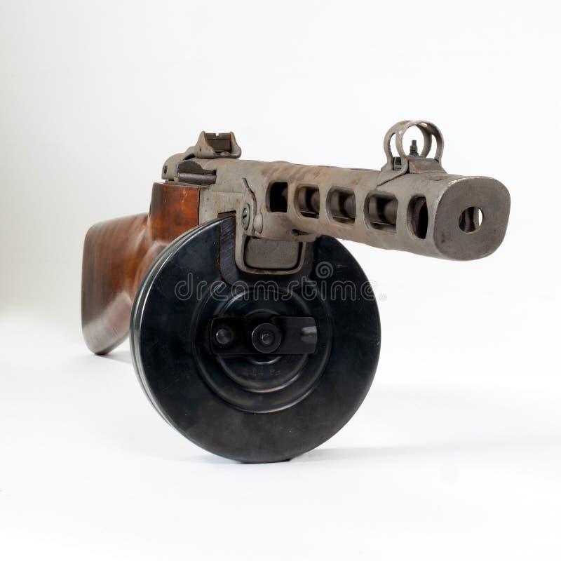 Machinepistool ppsh-41 op een lichte achtergrond royalty-vrije stock afbeeldingen
