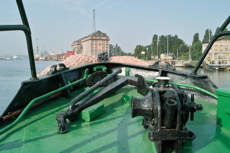 Download Machinery anchor ship. stock photo. Image of green, large - 15924970