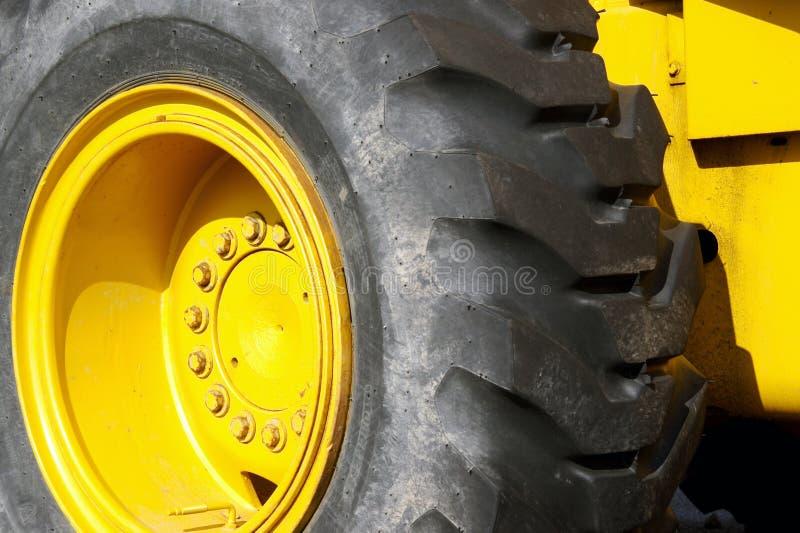Machinery Tire stock photo