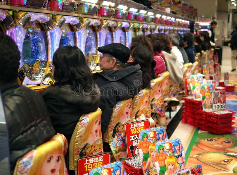 Machines à sous au Japon photographie stock libre de droits