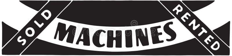 Machines. Retro Ad Art Banner stock illustration