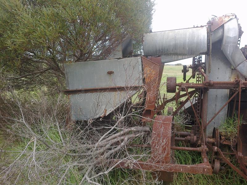 Machines agricoles décomposées images libres de droits