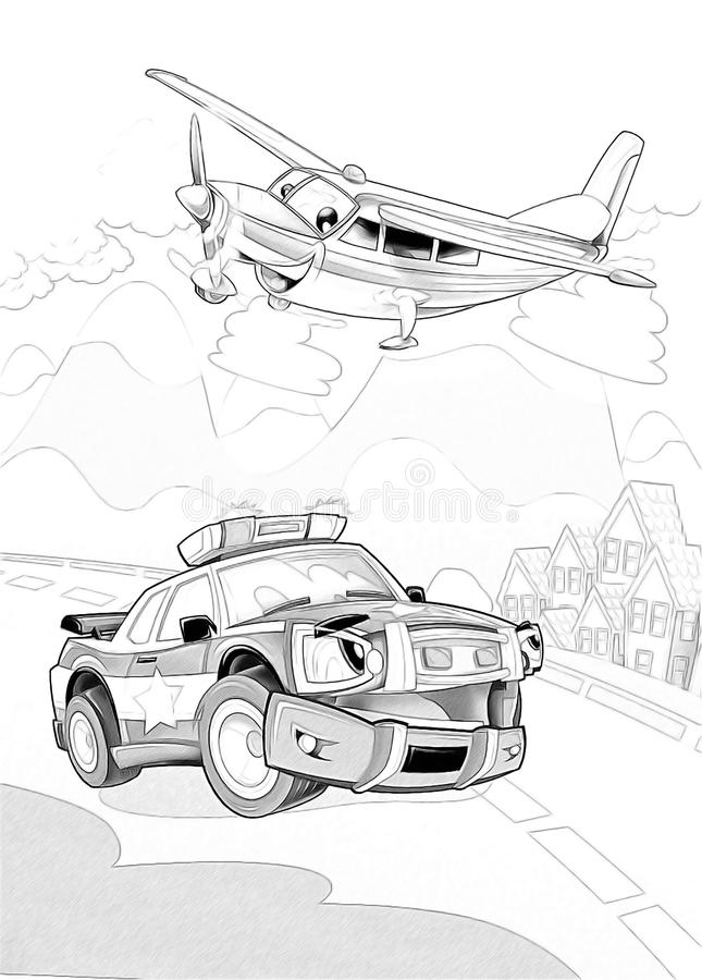 Download Machines - Artistic Coloring Page Stock Illustration - Image: 34636230