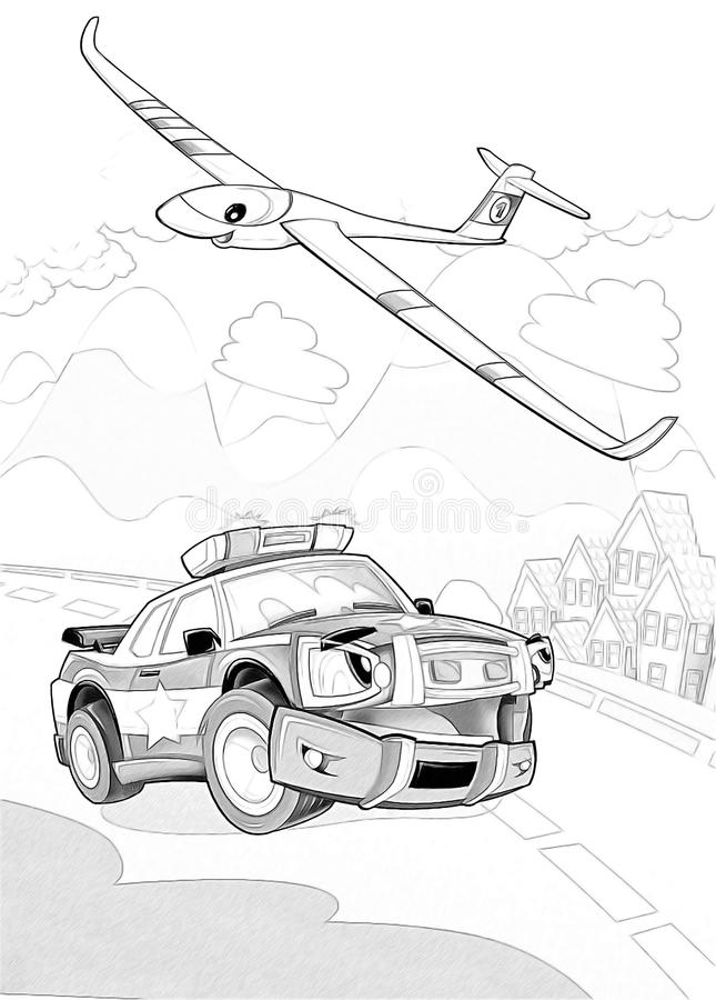 Download Machines - Artistic Coloring Page Stock Illustration - Illustration of drive, background: 34636256