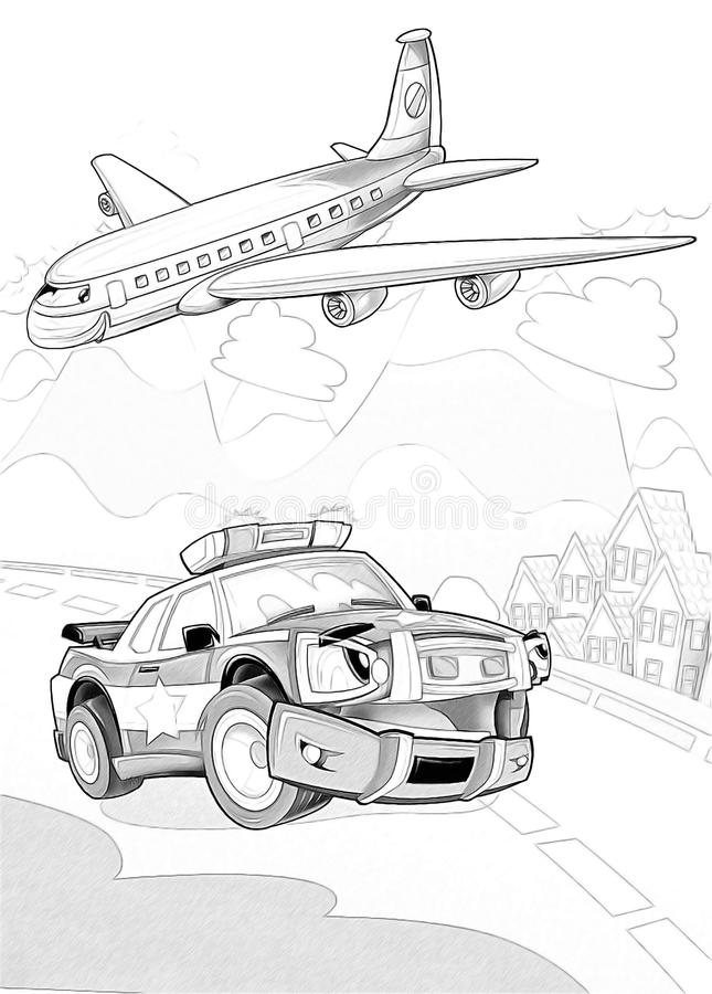 Machines - Artistic Coloring Page Stock Photography
