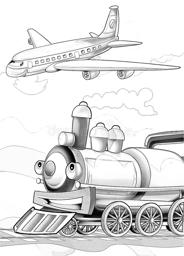 Download Machines - Artistic Coloring Page Stock Illustration - Image: 34636370