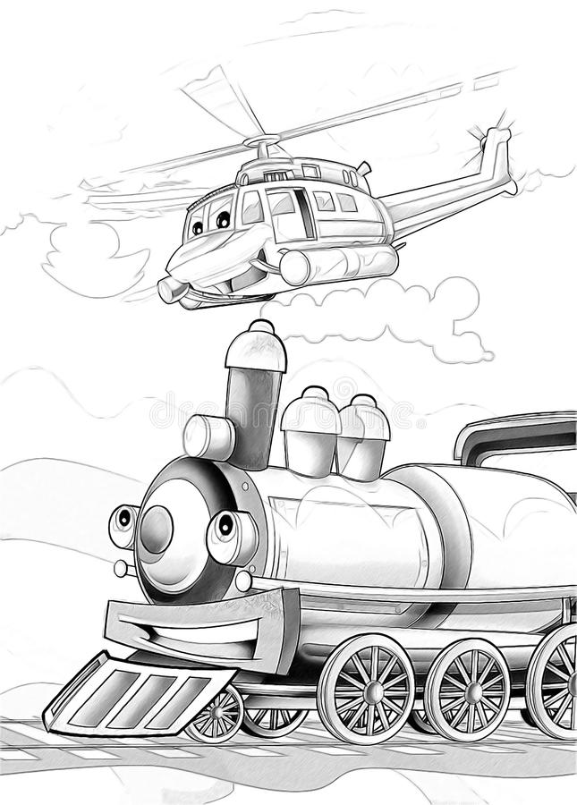 Download Machines - Artistic Coloring Page Stock Illustration - Illustration: 34636384