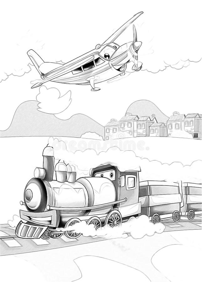 Download Machines - Artistic Coloring Page Stock Illustration - Image: 34636402