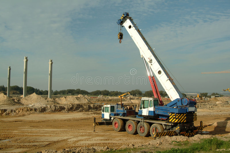 Machines in construction stock photography