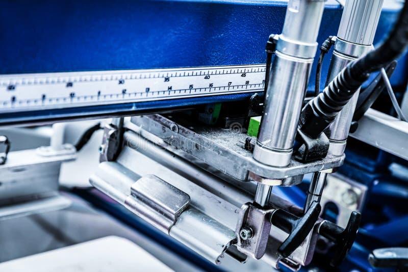Machines d'impression industrielles en métal photo libre de droits