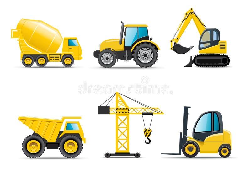 Machines de construction image stock
