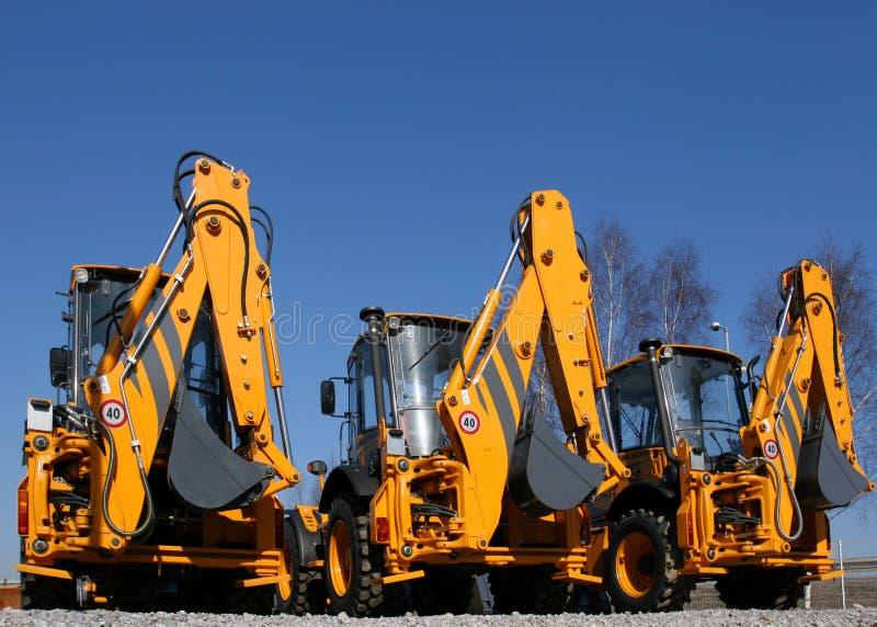 Machines de construction photos libres de droits