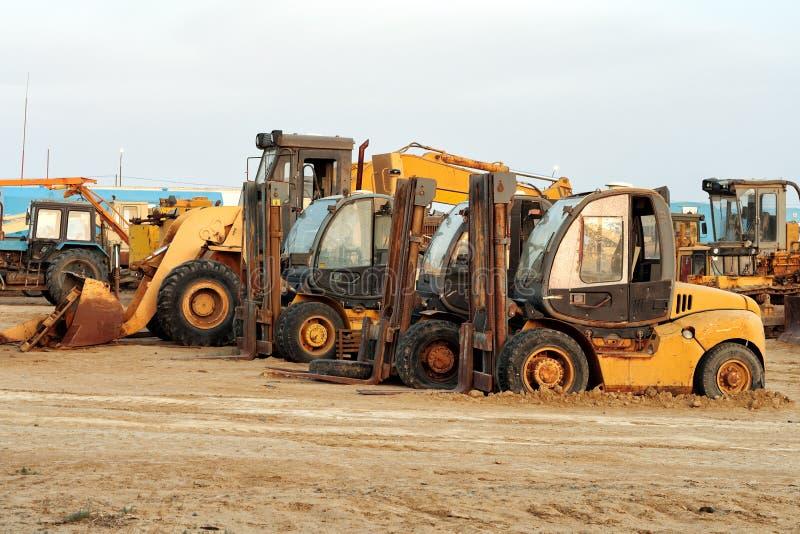 Machines de construction lourdes photo stock
