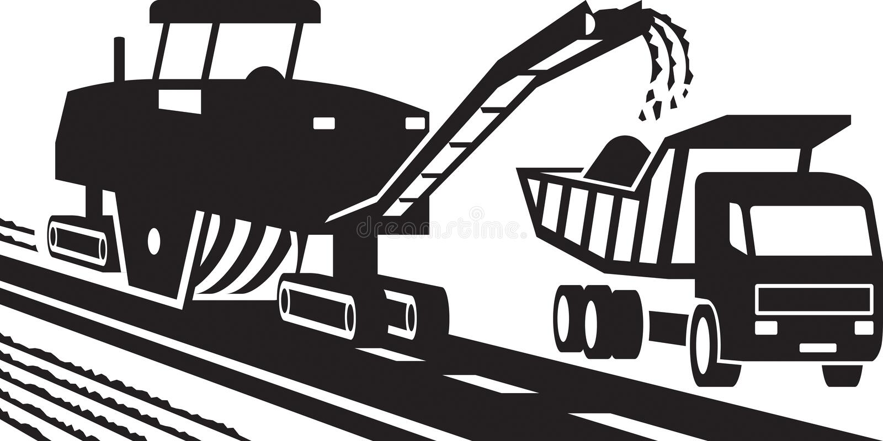 Machines de fraisage d'asphalte illustration stock