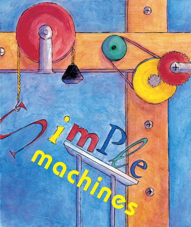 machines enkelt royaltyfri illustrationer