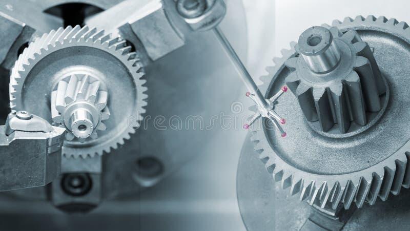 Machining automobilowa część cnc kręcenia maszyną obrazy royalty free
