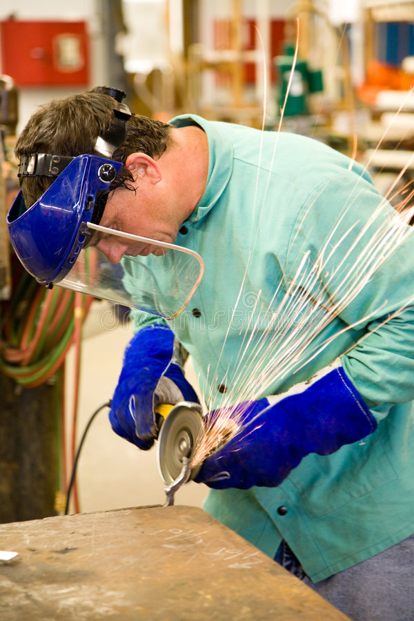 Machinist at Work royalty free stock photos
