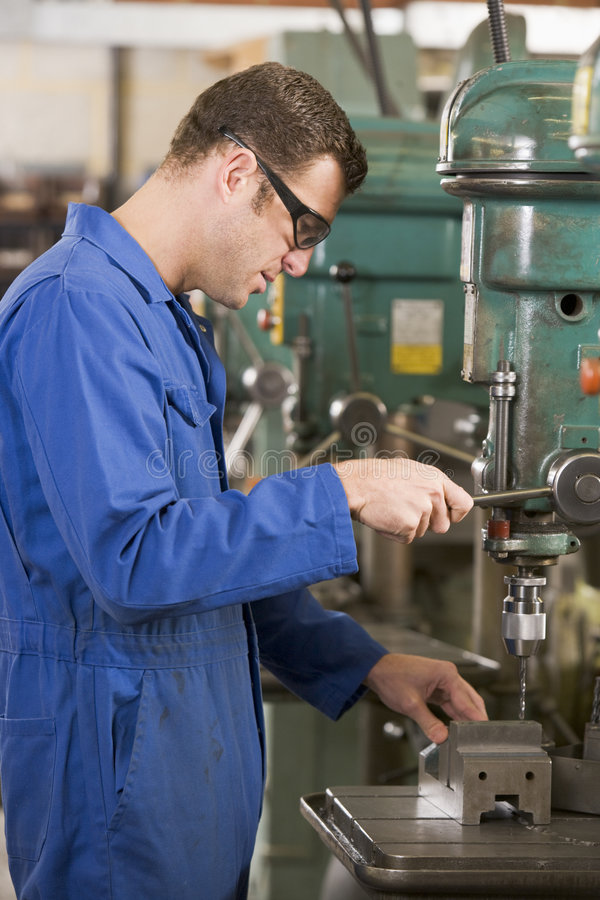 Machinist Working On Machine Stock Images