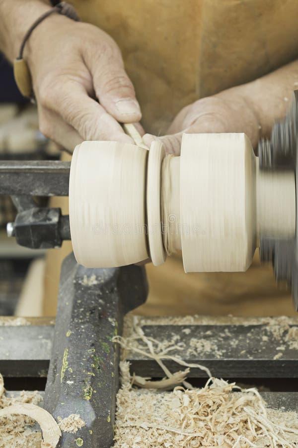 Machiniste en bois et de tour photos libres de droits