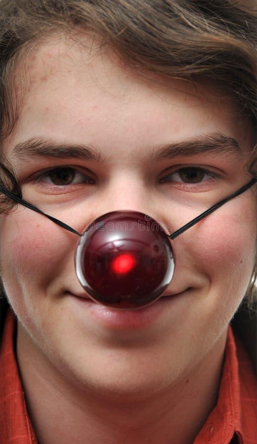 Macho com nariz vermelho foto de stock royalty free