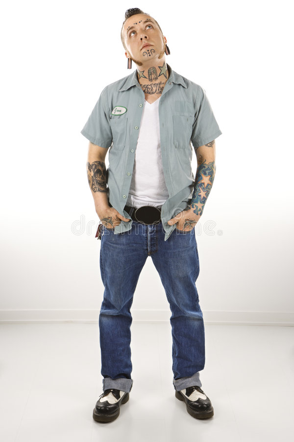 Macho com tatuagens imagens de stock royalty free