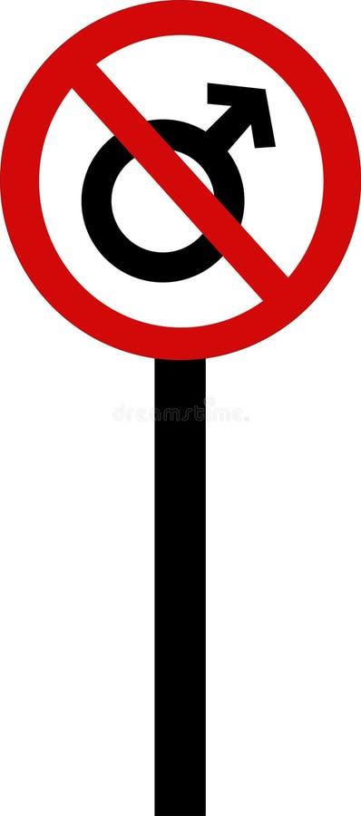 Macho proibido ilustração stock