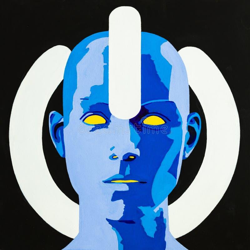 Macht in Cyberspace royalty-vrije illustratie