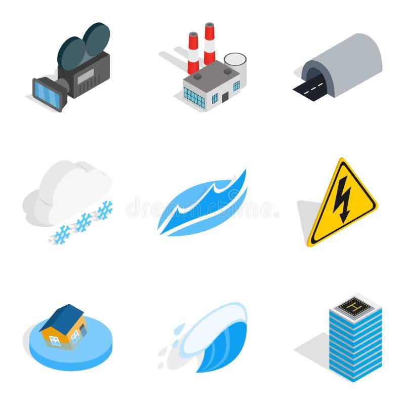 Download Macht De Geplaatste Apparatenpictogrammen, Isometrische Stijl Vector Illustratie - Illustratie bestaande uit geïsoleerd, nave: 107707980