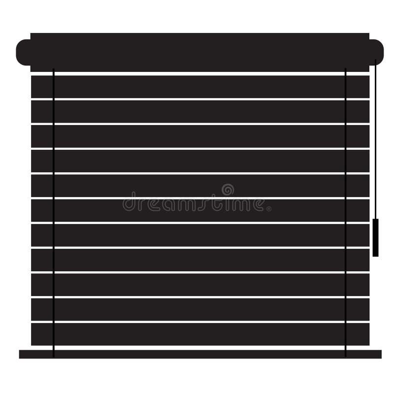 Macht Ikone auf weißem Hintergrund blind Flache Art Jalousieikone für Ihren Websiteentwurf, Logo, App, UI Jalousiensymbol jalousi lizenzfreie abbildung