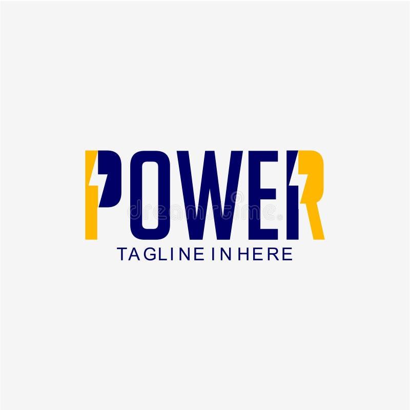 Macht Logo Vector Template Design Illustration stock illustratie