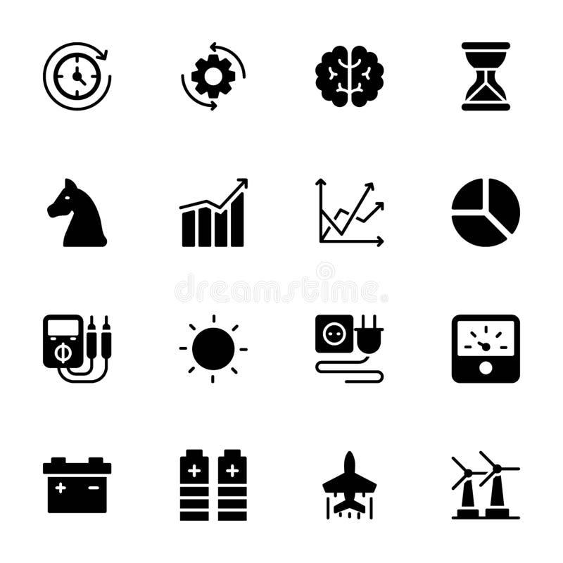 Macht, Snelheid, Grafiek, Sprint, Stevig Vectorenpak royalty-vrije illustratie
