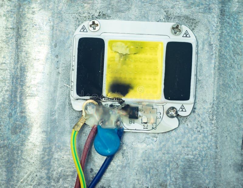 Macht van de elektronische raad voor hoge macht LEDs en gebrande leiden stock fotografie