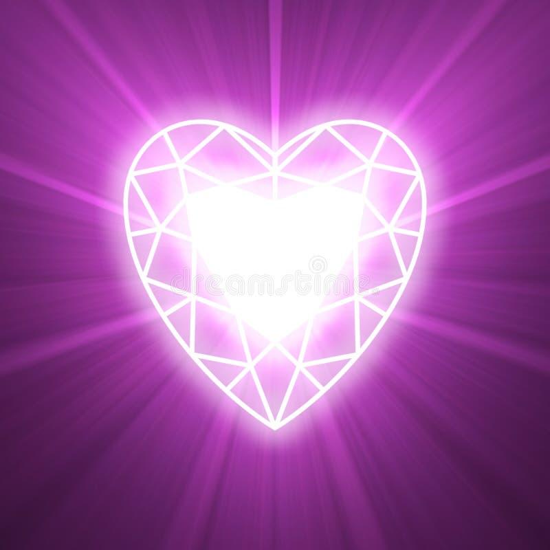 Macht van de lichte gloed van het liefdehart royalty-vrije illustratie