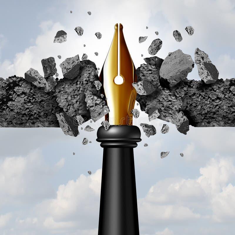 Macht van de Pen royalty-vrije illustratie