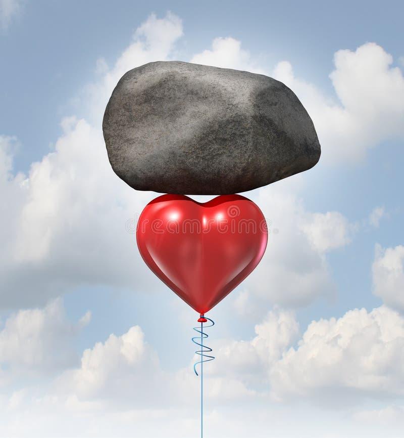 Macht van liefde stock illustratie