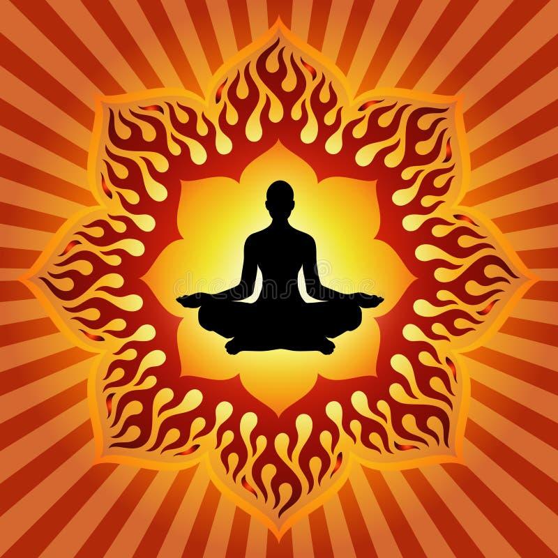 Macht van Yoga stock illustratie