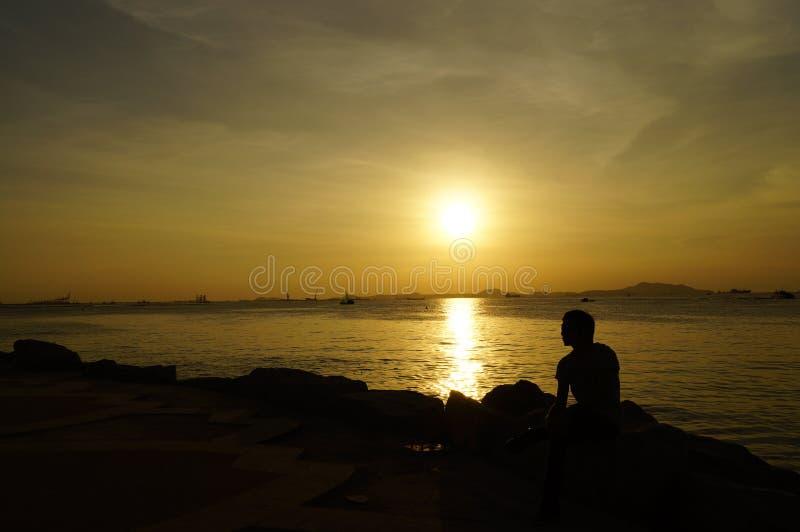 Macht van zonsondergang stock foto's