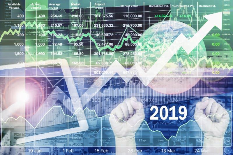 Macht zu steuern und Erfolg des Geschäfts im Jahre 2019 stockfotos