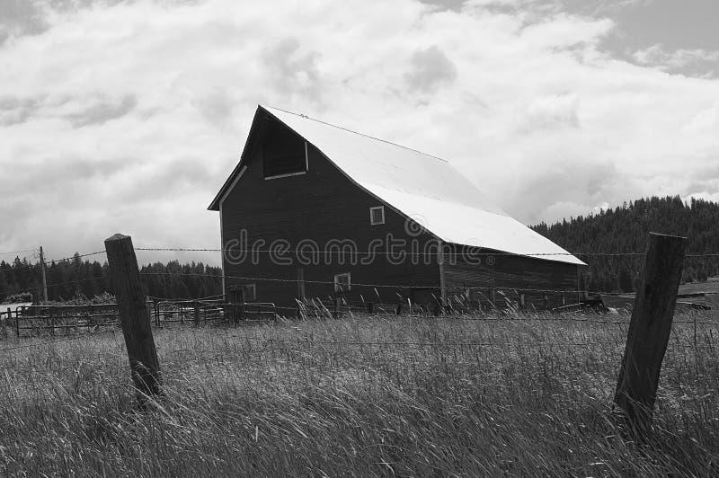 Machthaber-Amerika-Scheunen und -leben in Idaho stockfotos
