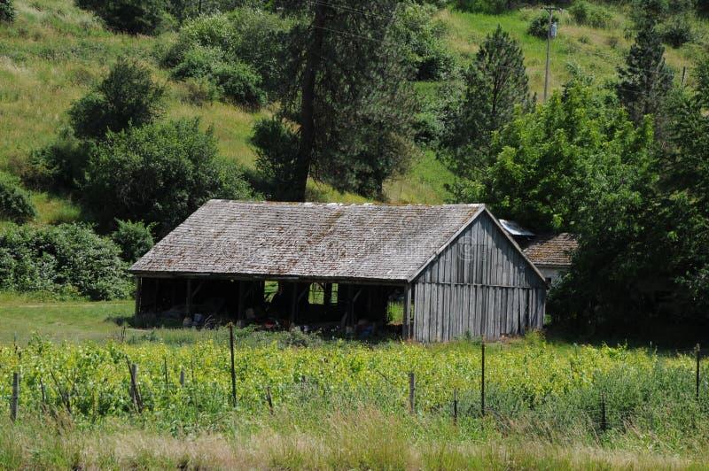 Machthaber-Amerika-Scheunen und -leben in Idaho stockfoto