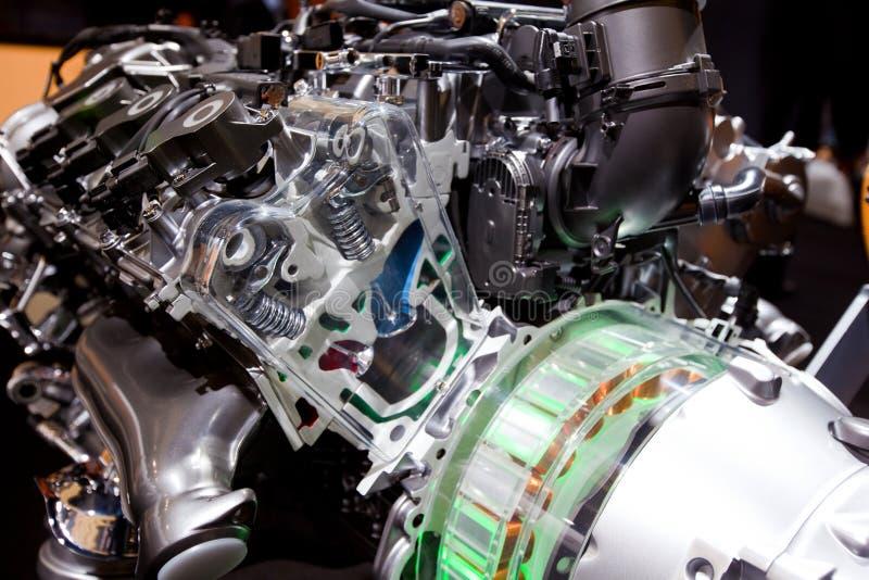 Machtige innovatieve motor van een auto stock foto