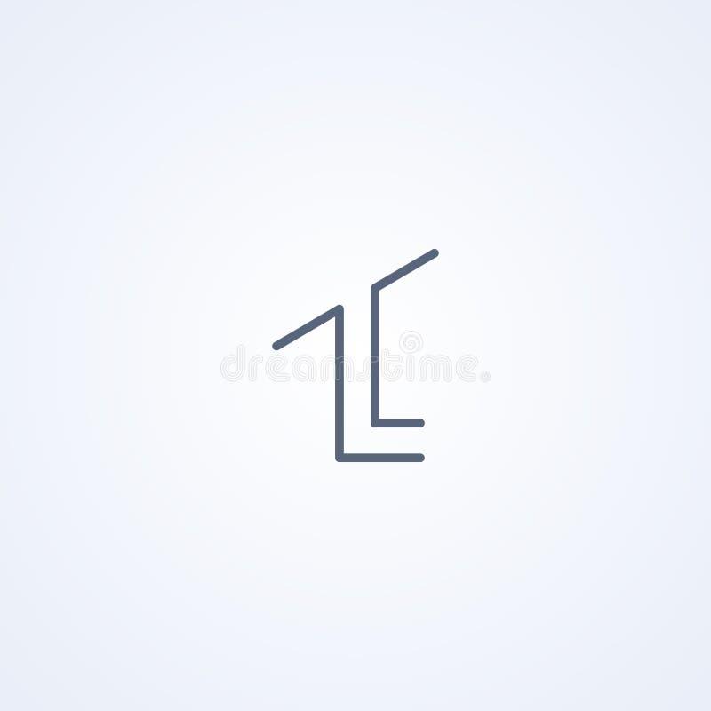 Machtskring, vector beste grijs lijnsymbool royalty-vrije illustratie
