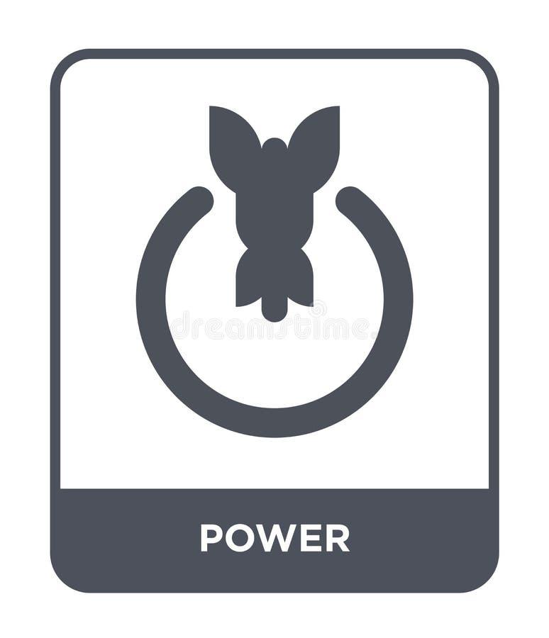 machtspictogram in in ontwerpstijl Machtspictogram op witte achtergrond wordt geïsoleerd die eenvoudige en moderne vlakke symbool stock illustratie