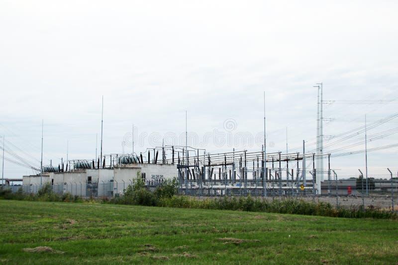 Machtsverbinding en distributiepost in Bleiswijk, lansingerland stock foto