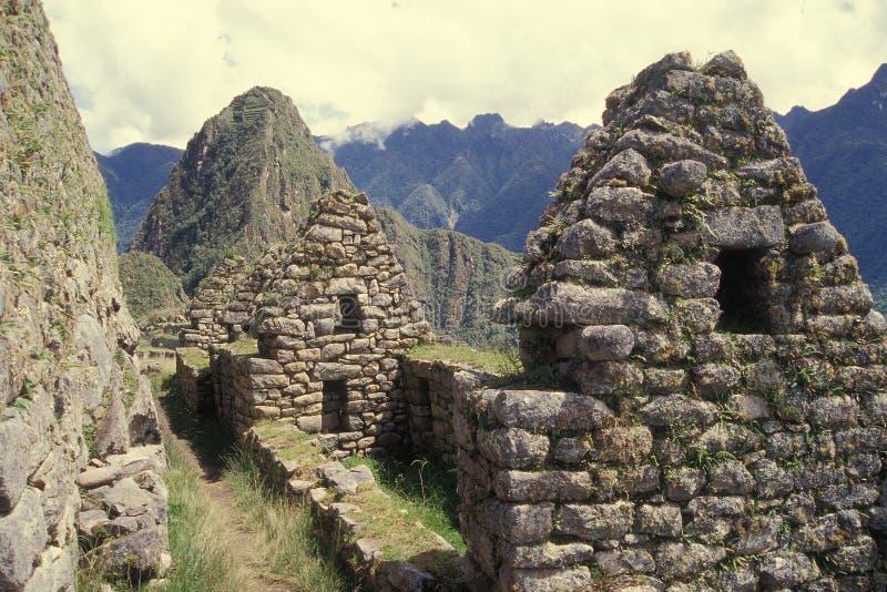 machu秘鲁picchu居住区 免版税库存图片